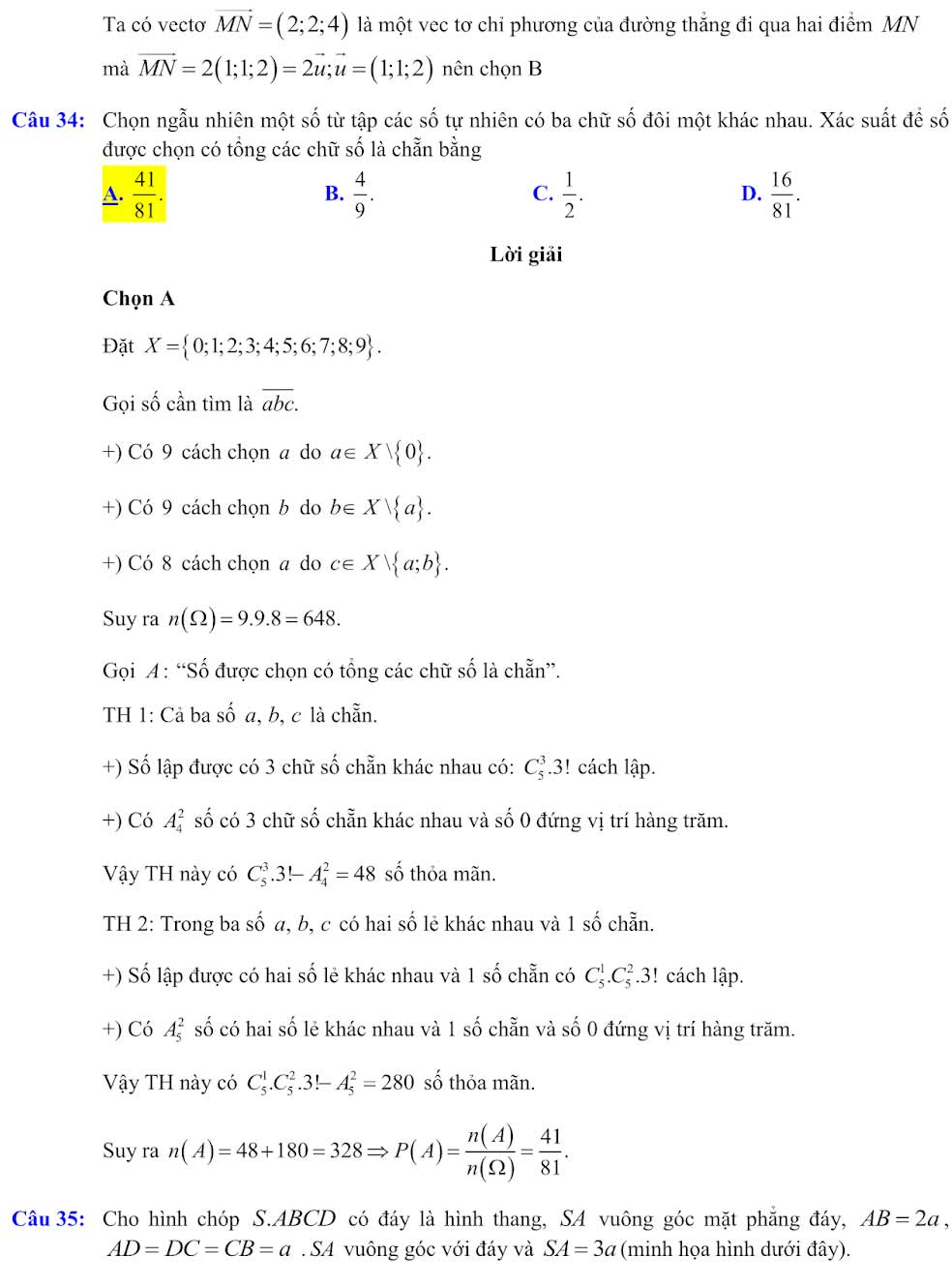Đáp án đề minh họa thi thpt quốc gia môn toán 2020 lần 1_10