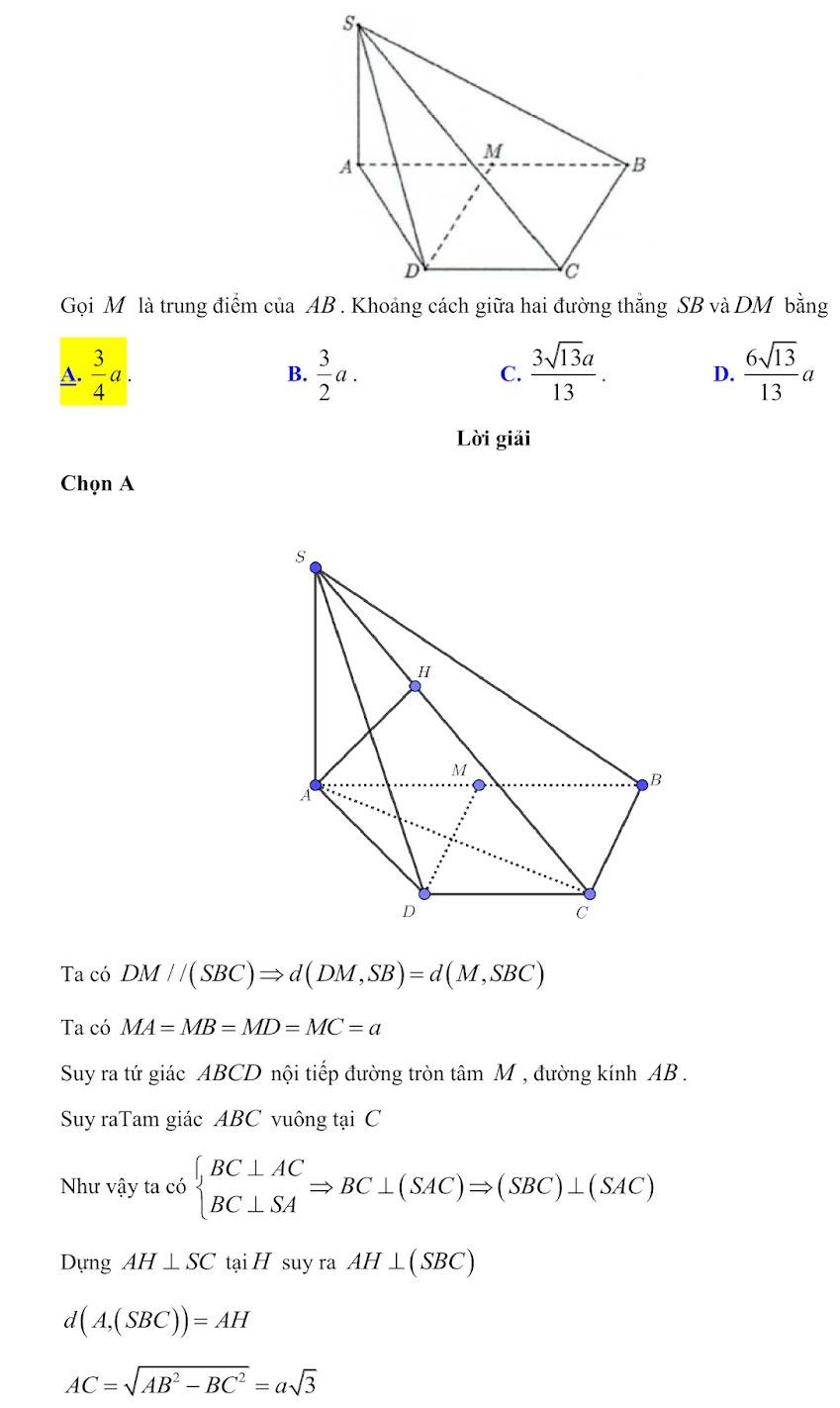 Đáp án đề minh họa thi thpt quốc gia môn toán 2020 lần 1_11