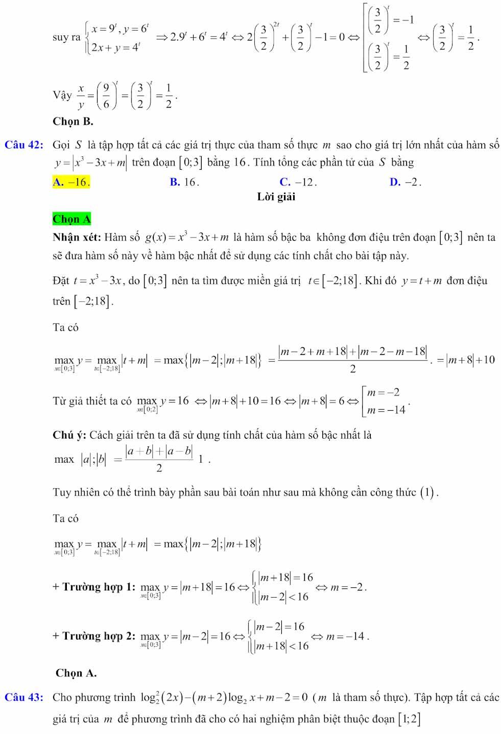 Đáp án đề minh họa thi thpt quốc gia môn toán 2020 lần 1_15