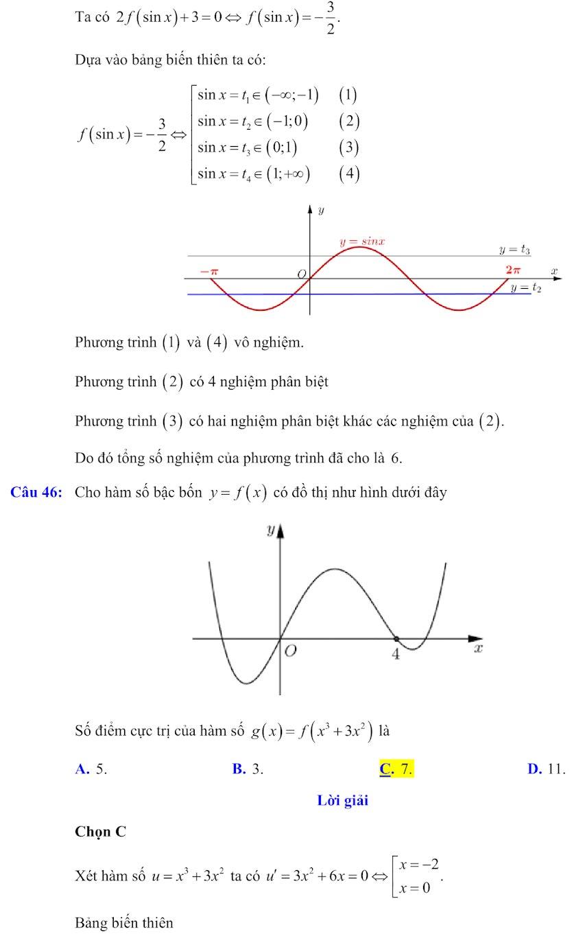 Đáp án đề minh họa thi thpt quốc gia môn toán 2020 lần 1_17