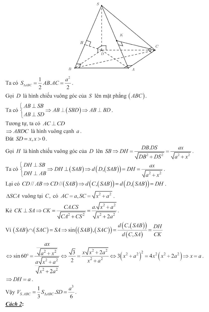 Đáp án đề minh họa thi thpt quốc gia môn toán 2020 lần 1_21