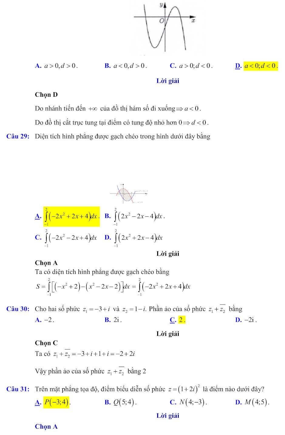 Đáp án đề minh họa thi thpt quốc gia môn toán 2020 lần 1_8