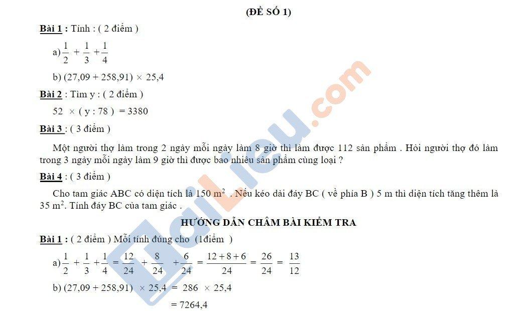 10 Đề thi vào lớp 6 môn toán 2020 mới nhất_1