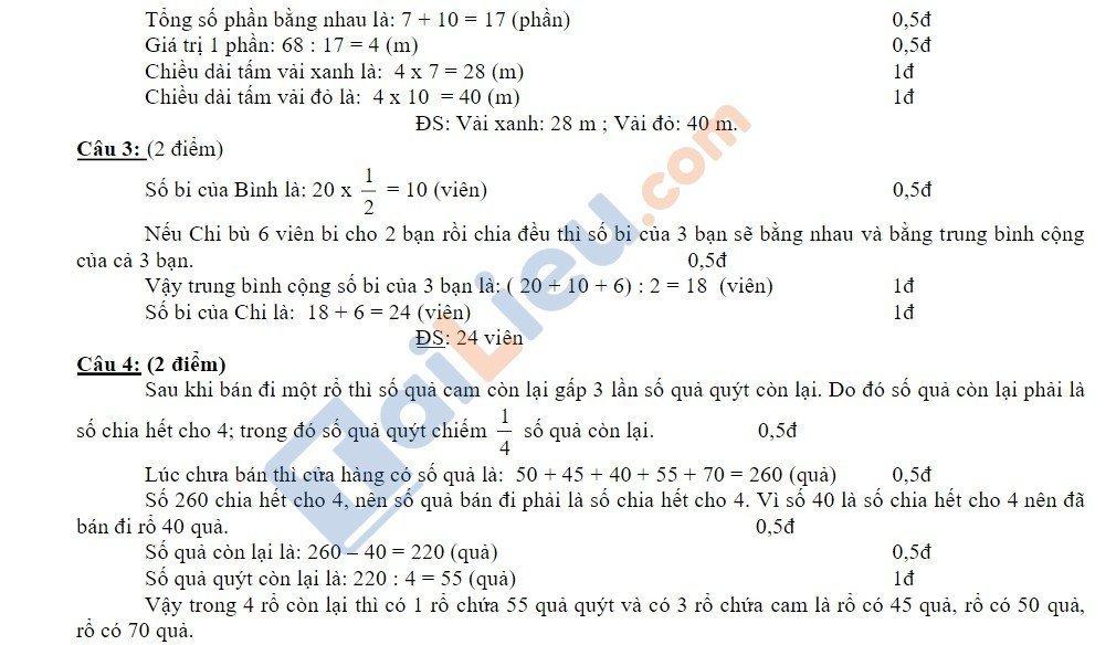 10 Đề thi vào lớp 6 môn toán 2020 mới nhất_10