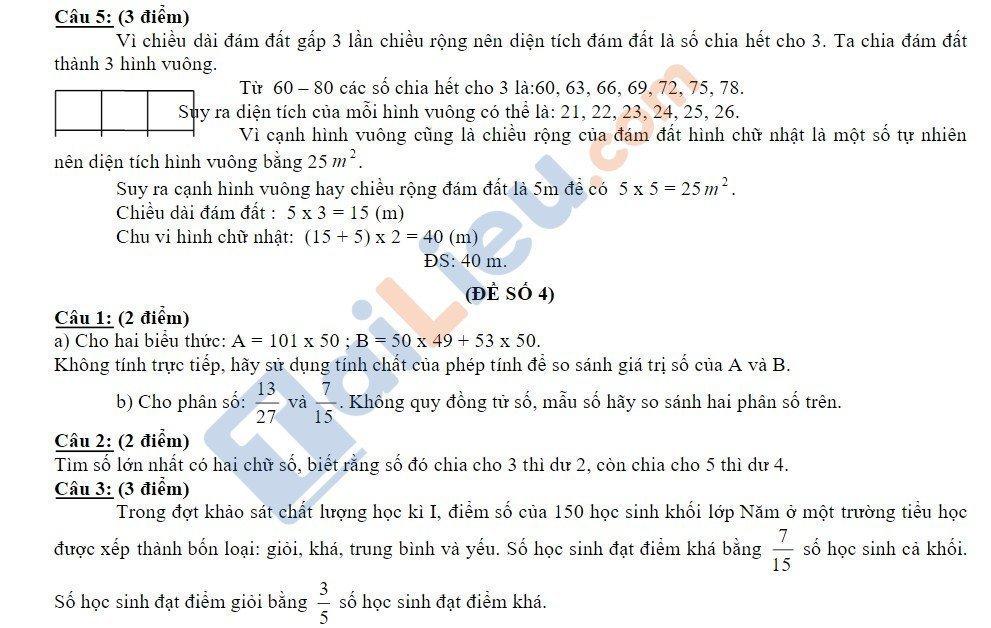 10 Đề thi vào lớp 6 môn toán 2020 mới nhất_11