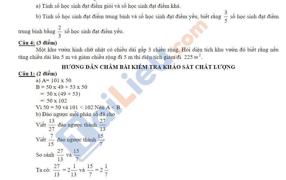 10 Đề thi vào lớp 6 môn toán 2020 mới nhất_12