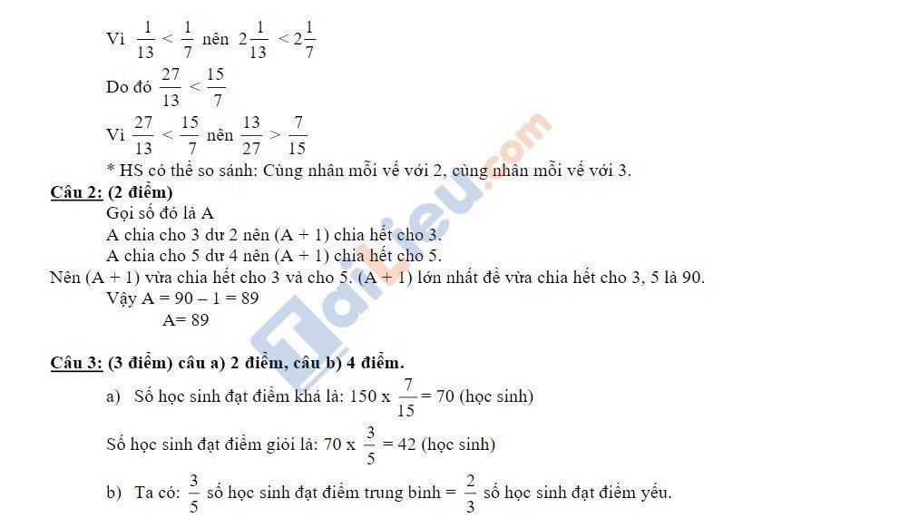 10 Đề thi vào lớp 6 môn toán 2020 mới nhất_13