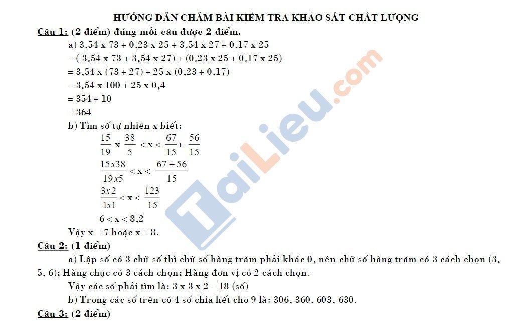10 Đề thi vào lớp 6 môn toán 2020 mới nhất_20