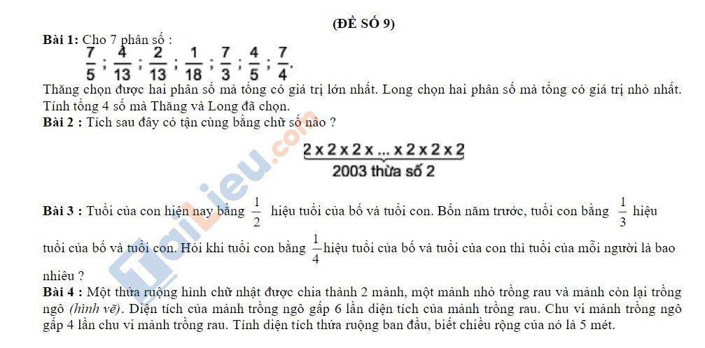 10 Đề thi vào lớp 6 môn toán 2020 mới nhất_31