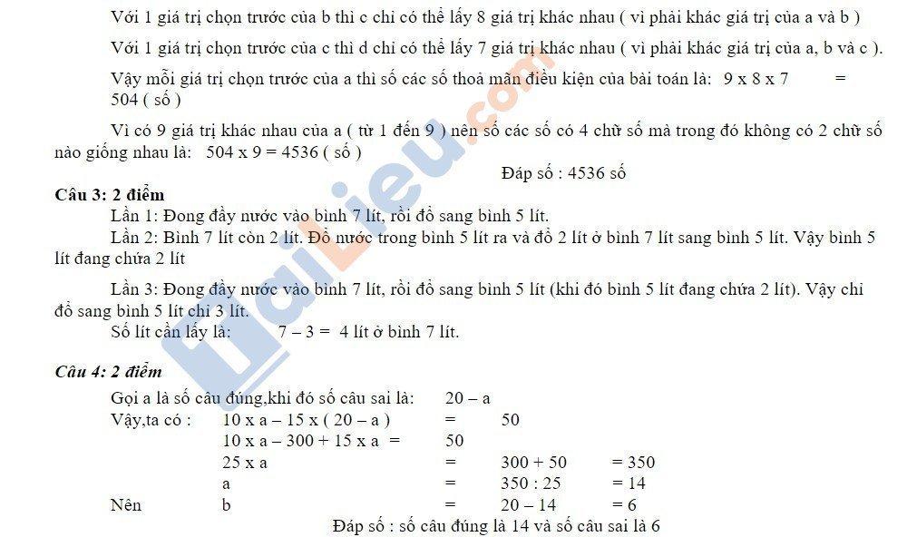 10 Đề thi vào lớp 6 môn toán 2020 mới nhất_36