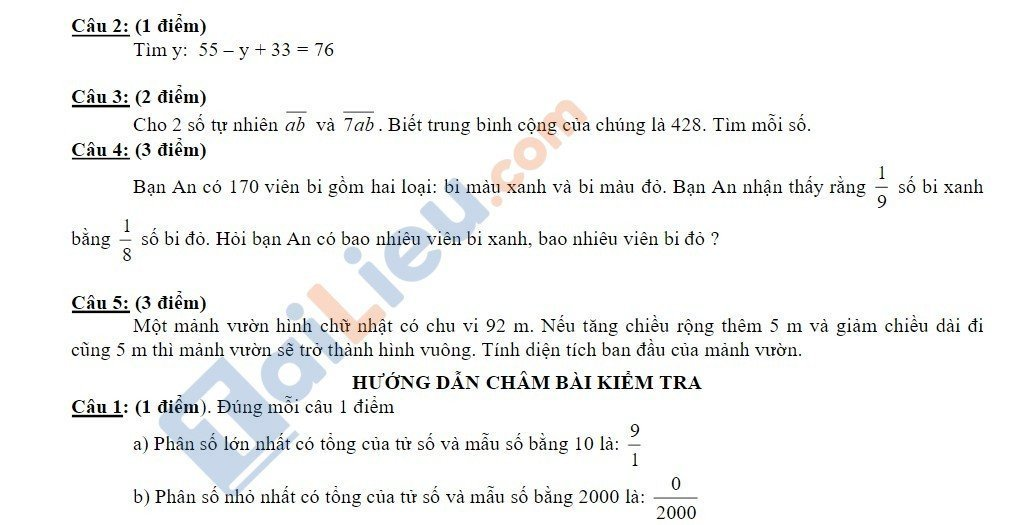 10 Đề thi vào lớp 6 môn toán 2020 mới nhất_4