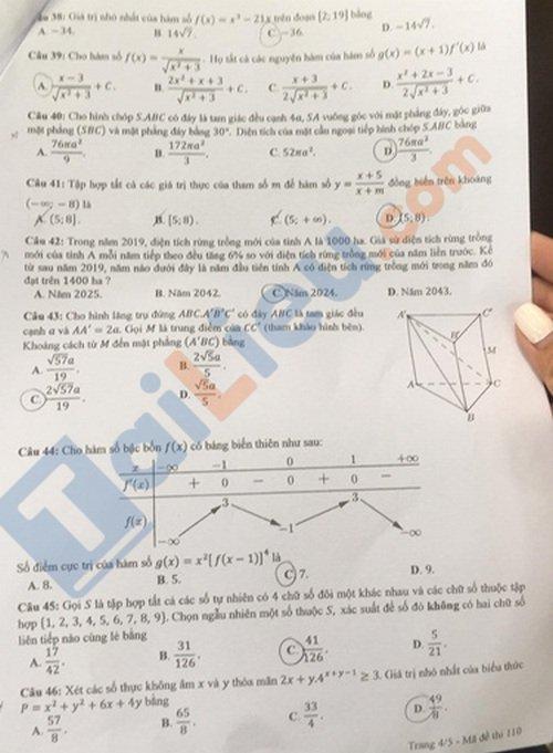 Đề thi trung học phổ thông QG 2020 môn toán mã đề 110_3