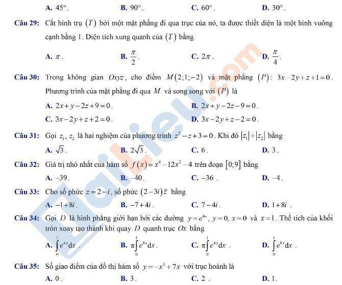 Đề thi THPTQG môn Toán 2020 đợt 2 mã đề 102_7