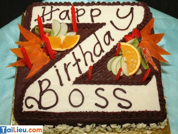 Câu chúc mừng sinh nhật sếp hay và ý nghĩa nhất