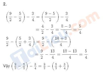 Đáp án câu 2 vở bài tập toán 4 trang 42 tập 2
