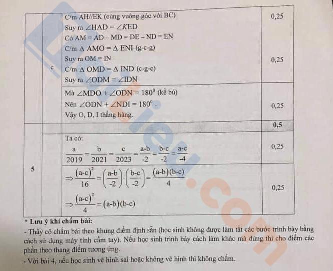 Đề kiểm tra học kì 1 Toán 7 Phòng GD&ĐT Quận Đống Đa - Hà Nội 2020-2021
