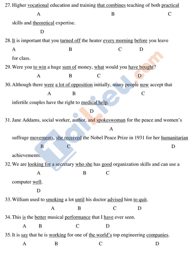 Bài thi mẫu ĐGNL 2019 môn Anh trường đại học Quốc tế HCM_2