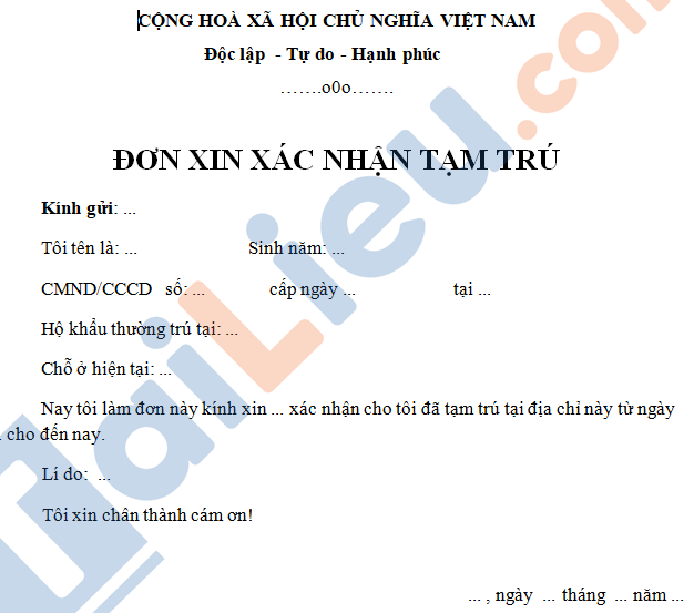 mẫu giấy xác nhận vùng không có dịch