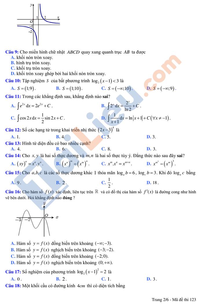 Đề thi thử tn môn toán thptqg có đáp án năm 2021 chuyên Vĩnh Phúc lần 2_2