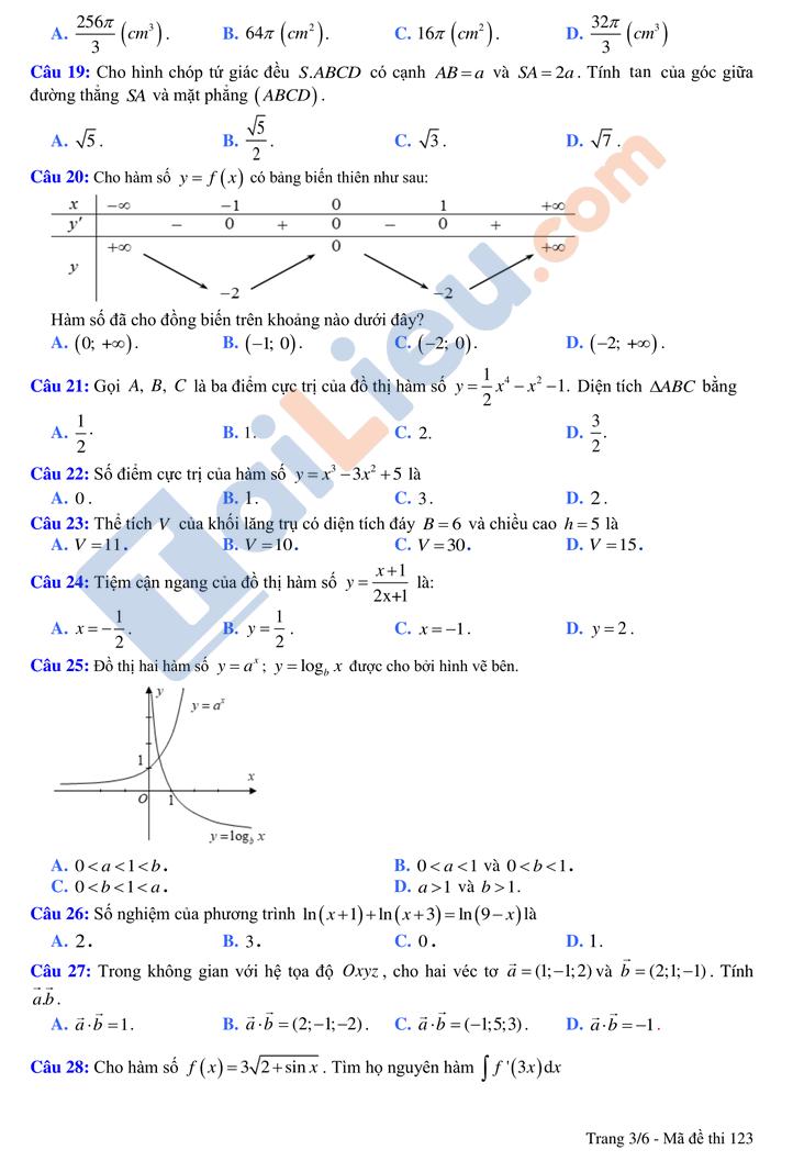 Đề thi thử tn môn toán thptqg có đáp án năm 2021 chuyên Vĩnh Phúc lần 2_3