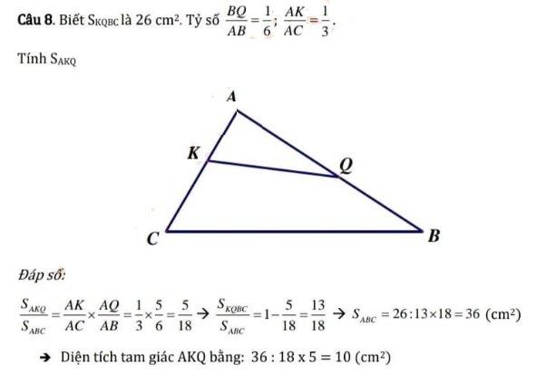 Đáp án Môn toán Trường THCS Cầu Giấy