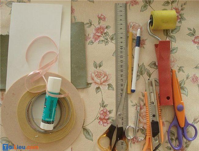 Nguyên liệu cần chuẩn bị làm thiệp handmade