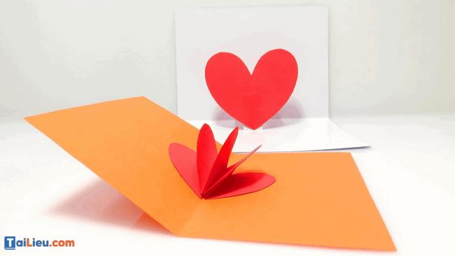 Cách làm thiệp 3D hình trái tim - 2