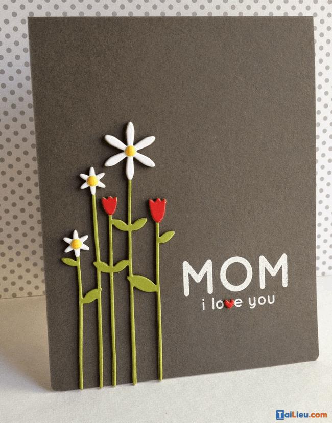 Cách làm thiệp 8-3 tặng mẹ