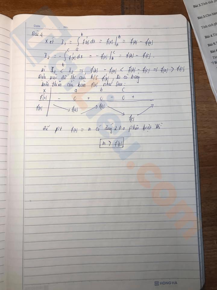 Đáp án Đề thi giữa kì 2 lớp 12 môn Toán 2021 THPT Hòn Gai - Quảng Ninh