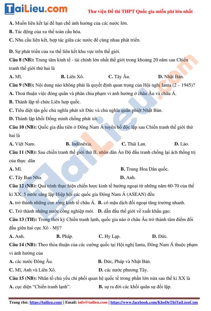 Đề thi thử sử 2021 lần 1 thptqg trường Nguyễn Viết Xuân Vĩnh Phúc_2