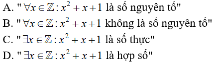 17 câu trắc nghiệm Mệnh đề có đáp án